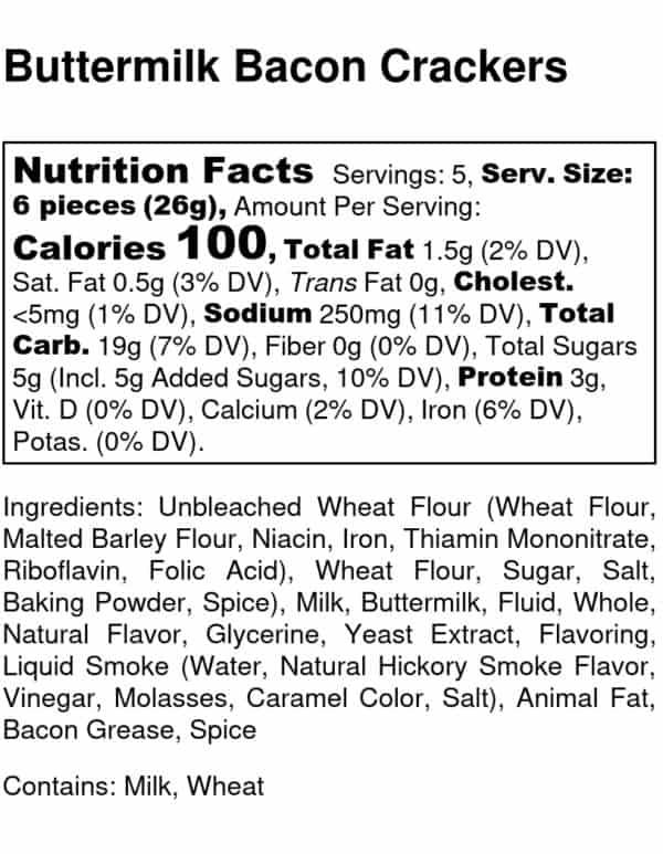 Buttermilk Bacon Nutrition