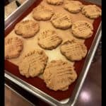 Peanut Butter Cookies on baking tray